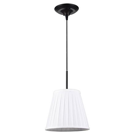 Milazzo 1: Белый подвесной абажур с плиссировкой