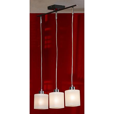 Тройной подвесной светильник на планке