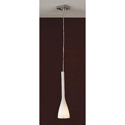 Подвесной вытянутый светильник из белого стекла