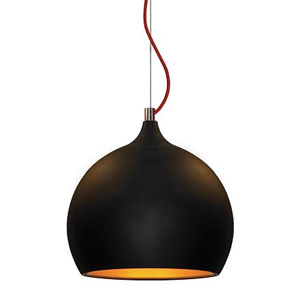 Подвесная открытая сфера черного цвета