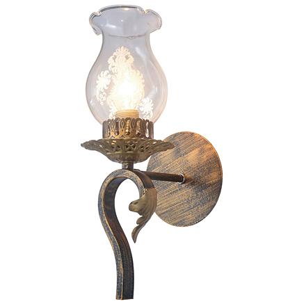 Sacramento 1: Настенный светильник (цвет черный, бронзовый, прозрачный)