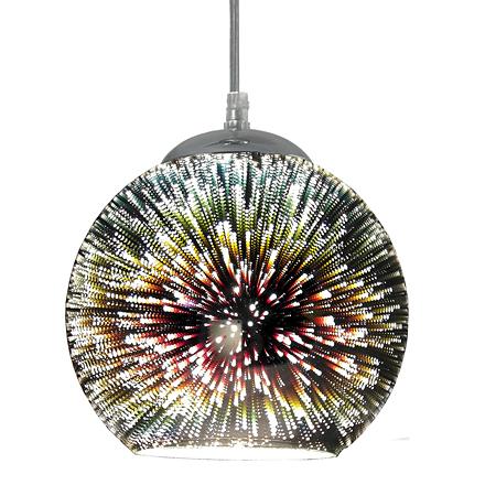 Подвесной светильник с 3D эффектом фейерверка