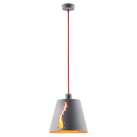 Подвесной плафон со штопкой (серый)