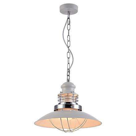 Подвесной плоский светильник-тарелка (белый)