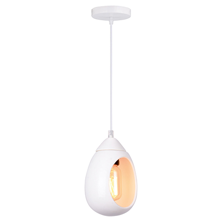 Подвесной белый светильник в стиле модерн