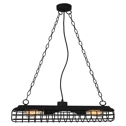 Светильник-решетка на цепях (черный)