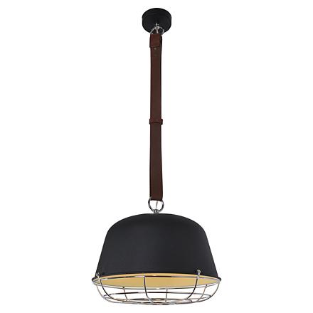 Черный подвесной светильник на ремне