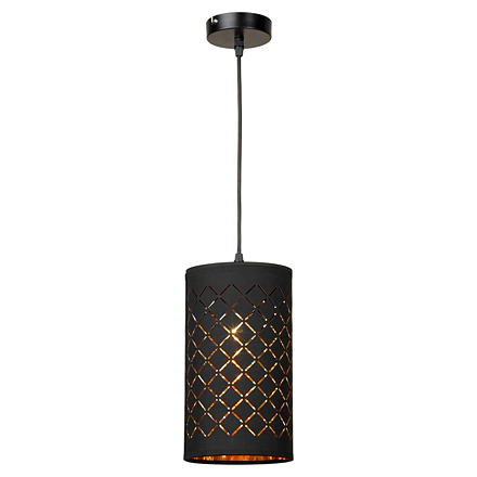 Черный подвесной светильник цилиндр