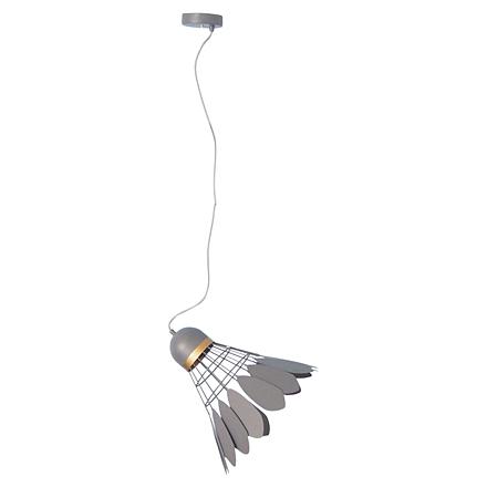 Подвесной серый воланчик из металла