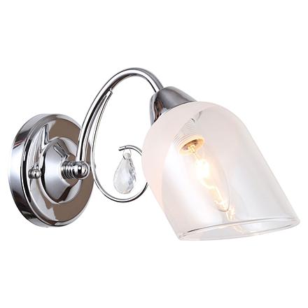 Apache 1: Настенный светильник (цвет хром, прозрачный)