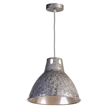 Серый подвесной плафон из металла