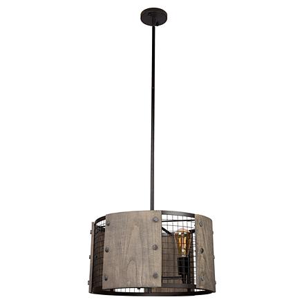 Подвесной светильник в стиле лофт (цвет черный, серый)