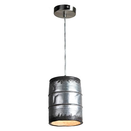 Подвесная бочка из металла декоративная (серая)