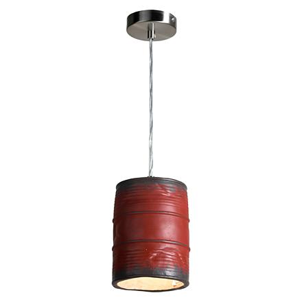 Подвесная бочка из металла декоративная (красная)
