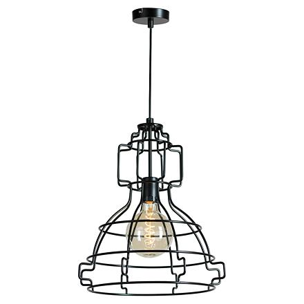 Подвесной светильник в стиле лофт (цвет черный)