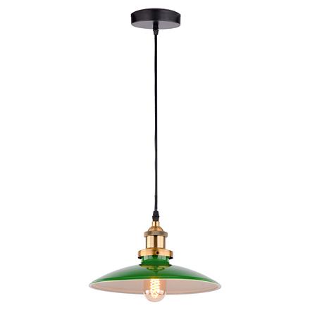 Подвесной зеленый плафон (лофт)