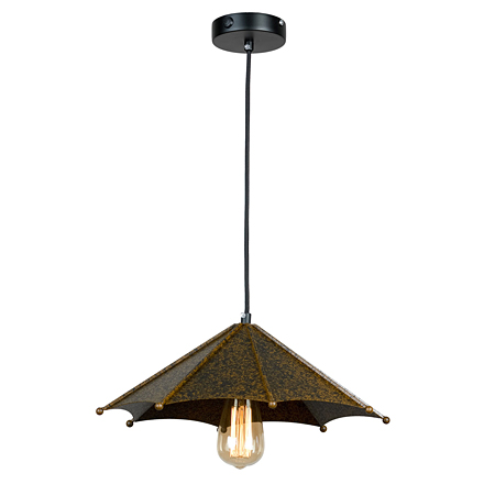 Плафон металлический зонтик (коричневый, лофт)