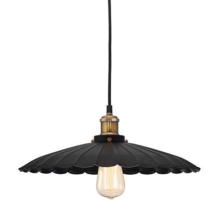 Подвесной плоский светильник из металла (лофт)
