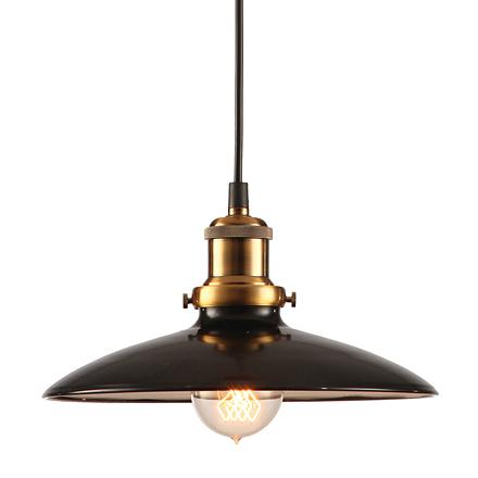 Подвесной черный плафон из металла (лофт)
