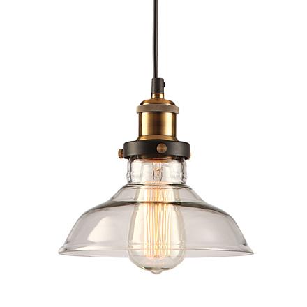 Подвесной стеклянный светильник (лофт)
