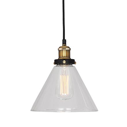 Подвесной светильник-конус из стекла (лофт)