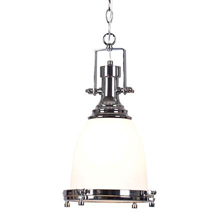 Подвесной светильник в стиле лофт (цвет хром, белый)