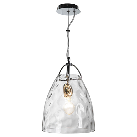 Подвесной светильник с эффектом мятого стекла