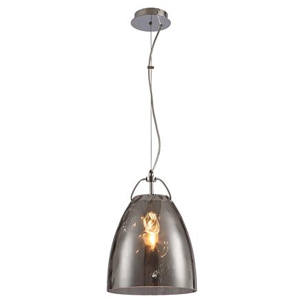 Подвесной светильник из дымчатого стекла