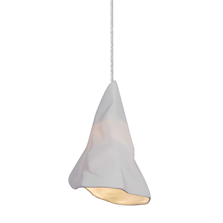 Подвесной светильник под мятую бумагу (белый)
