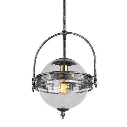 Подвесной светильник в стиле лофт (цвет серый, черный, прозрачный)