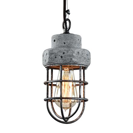 Подвесная лампа с бетонным основанием
