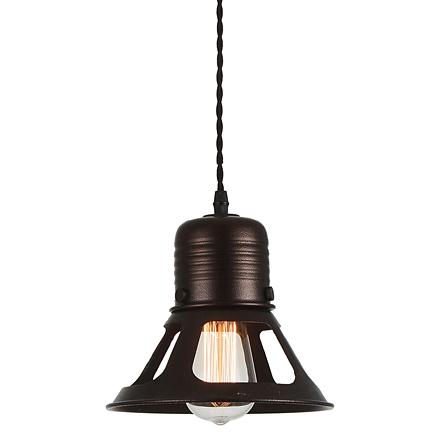 Коричневый подвесной светильник лофт
