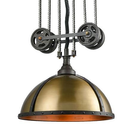 Люстра в стиле лофт (цвет коричневый, бронзовый)