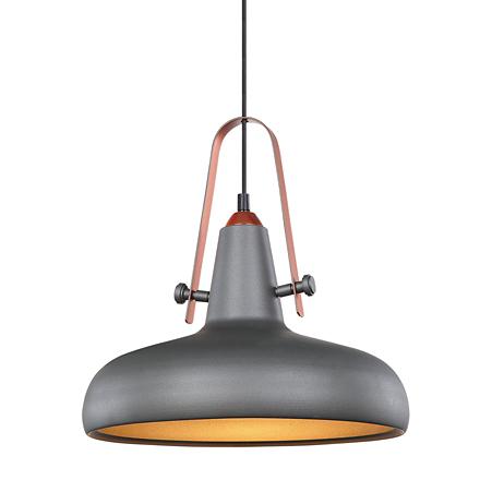 Подвесной светильник плоский (лофт, серый)