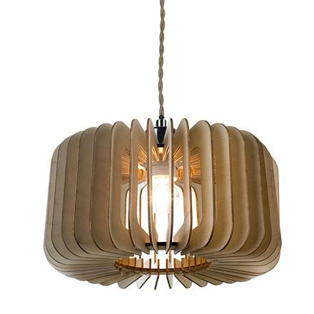 Подвесной светильник из фанеры в стиле лофт
