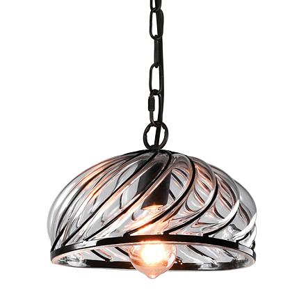 Подвесной светильник из литого стекла