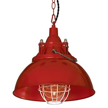 Подвесной светильник в стиле лофт (красный)