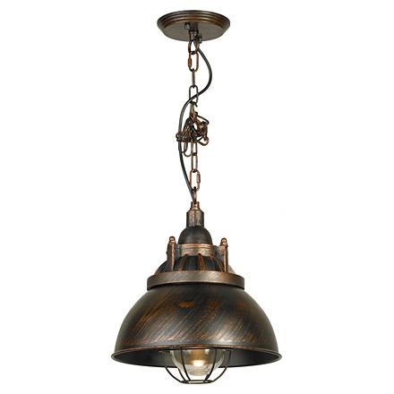 Подвесной светильник в стиле лофт (коричневый)