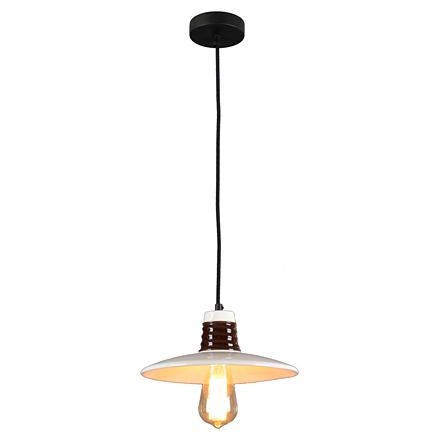 Подвесной светильник плоский лофт белого цвета