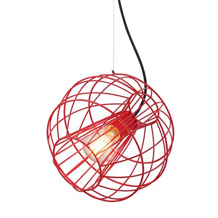 Подвесной светильник (цвет красный)