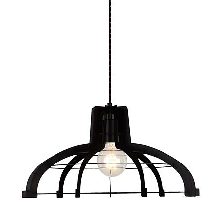 Светильник из металлических пластин-ребер (черный)