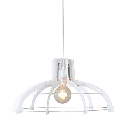Светильник из металлических пластин-ребер (белый)