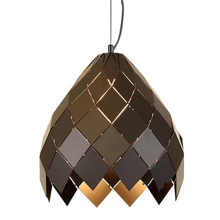 Подвесной абажур из квадратиков (черный)