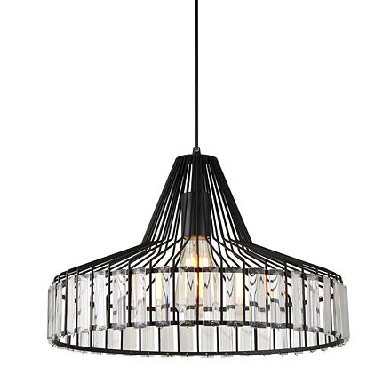 Подвесной светильник в стиле лофт (цвет черный, прозрачный)
