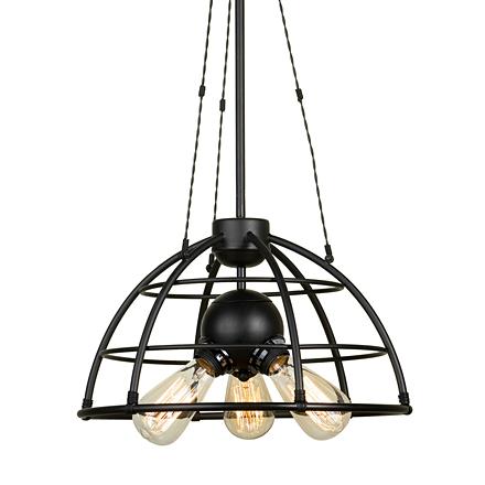 Люстра-подвес 3 лампы в обрешетке (лофт)