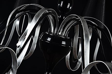 Люстра цвет черный и хром [Фото №2]