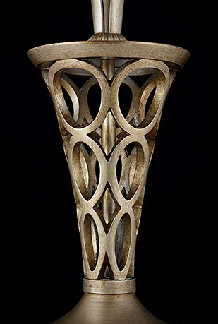Настольная лампа цвет серебро антик [Фото №2]