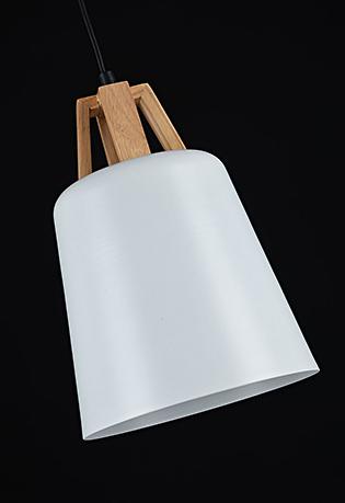 Подвесной светильник цвет черно-белый [Фото №2]