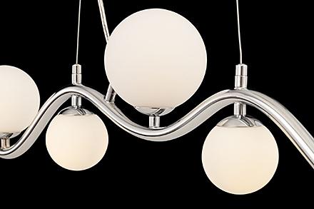 Подвесной светильник цвет хром/белый [Фото №2]