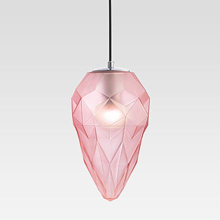 Подвесной светильник цвет хром/розовый [Фото №2]
